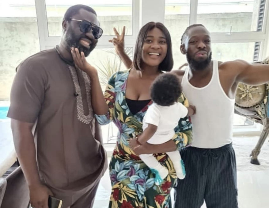 Mercy Johnson-Okojie and her family pictured with Timaya
