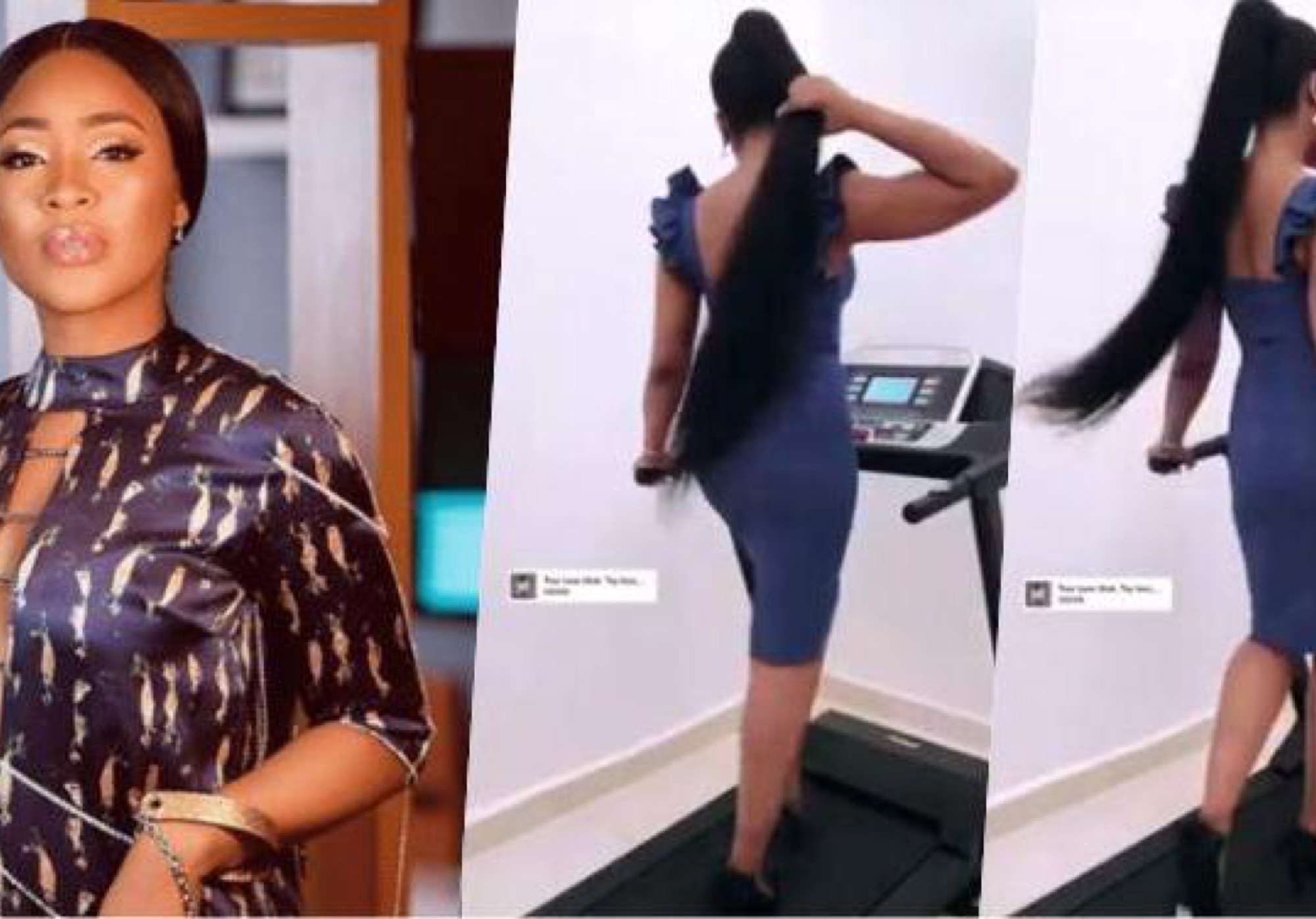 BBNaija's Erica Sparks Viral Challenge After She Test Runs Treadmill Gift From Fans