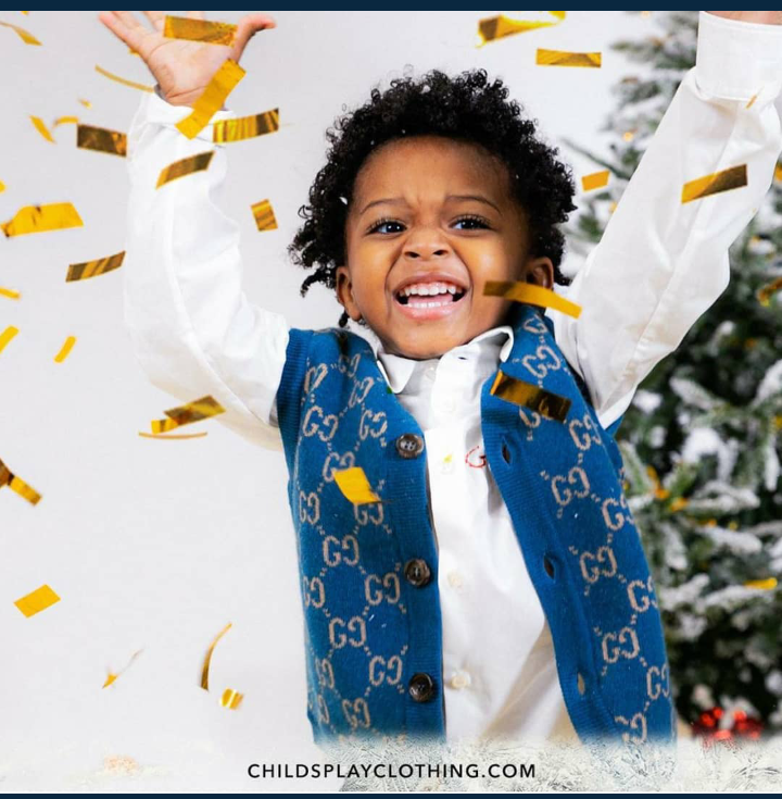 Wizkid's Son, Zion Bags Ambassadorial Deal With UK Kids Clothing Line, Childsplay
