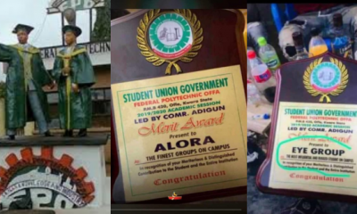Offa Polytechnic Student Union Government Gives Merit Award To Cultist Groups