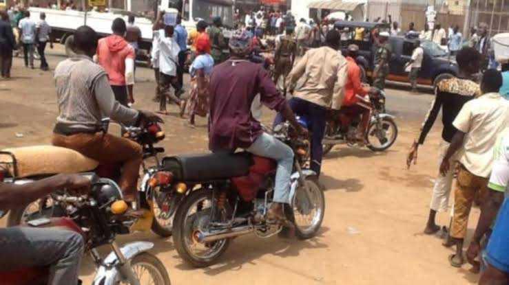Okada riders, taskforce officials clash in Lagos (video)