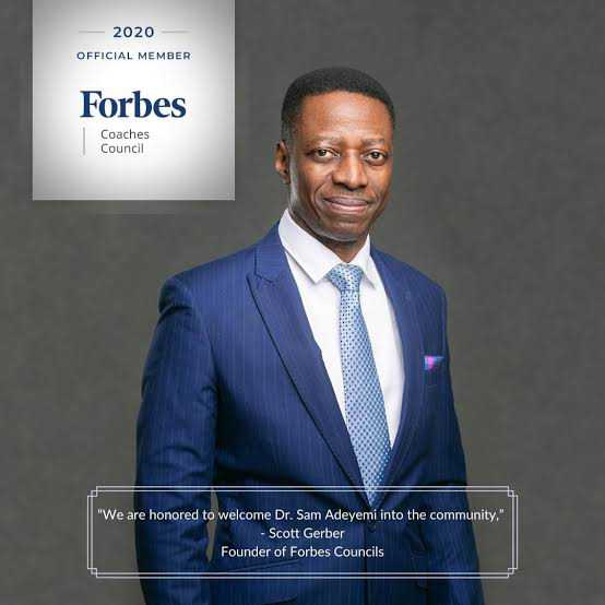 Pastor Sam Adeyemi named member of Forbes Coaching Council