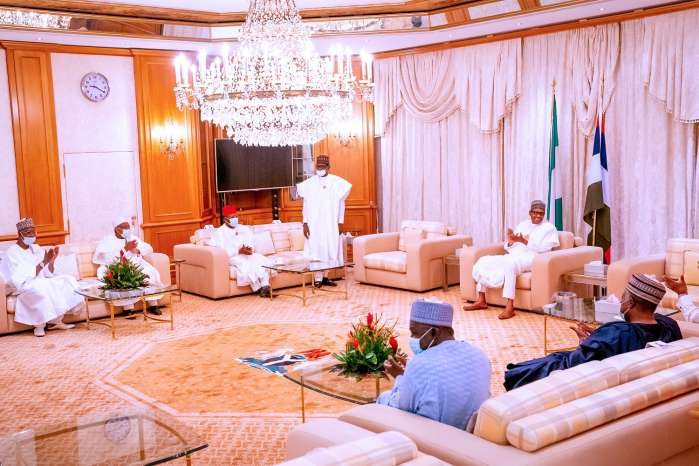 1. President Muhammadu Buhari Thursday night received Ebonyi State Governor, David Umahi, shortly after he defected from the Peoples Democratic Party (PDP) to the ruling All Progresives Congress (APC).