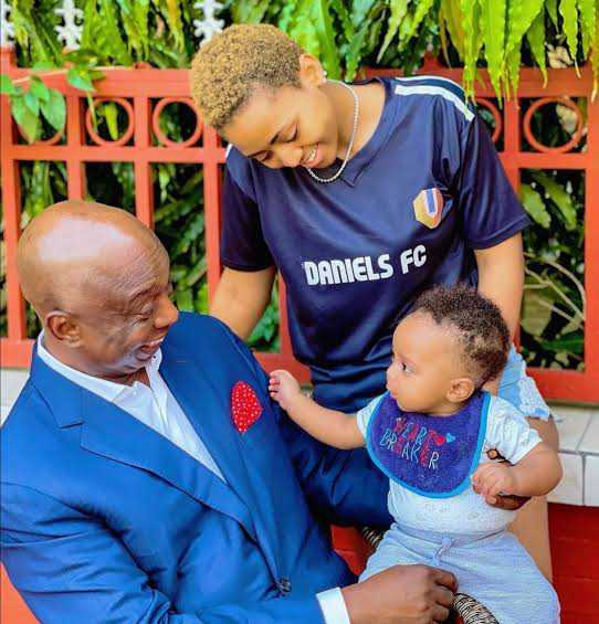 Ned Nwoko, Regina Daniels and their son, Munir
