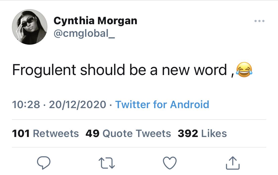 Morgan's tweet