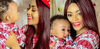 Regina Daniels Shares Adorable Christmas Themed Photos With Her Son