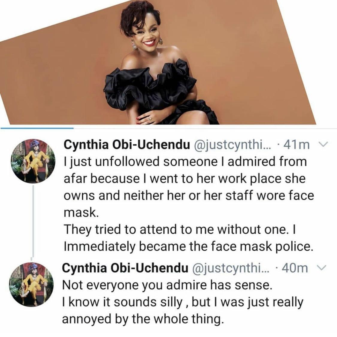 Obi-Uchendu's tweets