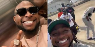 Singer Davido's Crew Hypes His New Set Of Teeth; Throw Shade At Wizkid (Video)