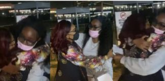 Mercy Aigbe Reunites With Daughter After Trip To Canada