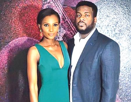 Agbani Darego and her hsuband