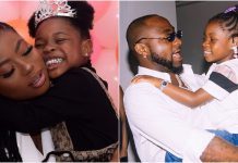 Singer Davido's 5-Year-Old Daughter, Imade Advices Her Mum To Calm Down