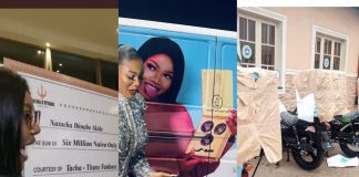 Tacha Cries As Titans Gift Her 6 Million Naira, Delivery Bus And 3 Motorbikes For Her 25th Birthday
