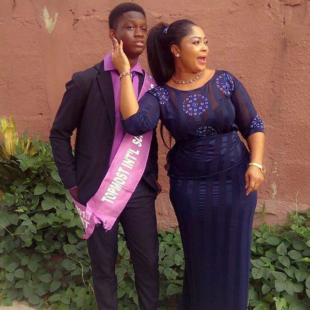 Biodun Okeowo, and her son, Ayomide