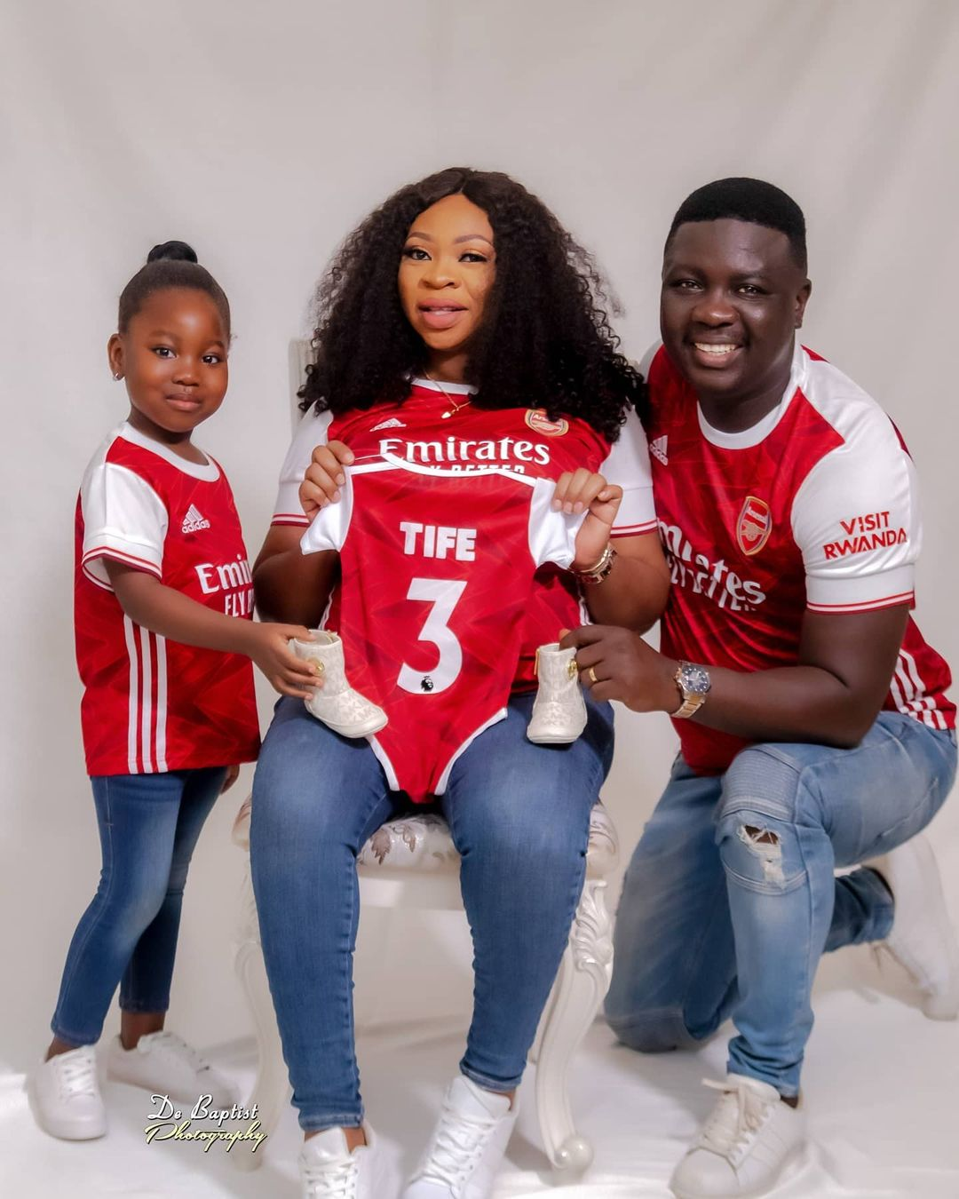 Comedian Seyi Law and his family