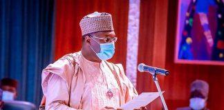 Buhari Swears In Mahmood Yakubu As INEC Chairman For Second Term