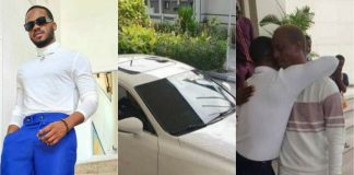 Korede Bello Gifts His manager Of 10-years A Brand New Car (Photos)