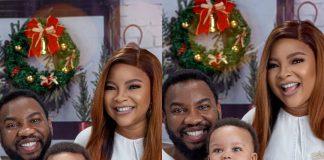 Actress Linda Ejiofor Unveils Son's Face For Christmas (Photos)