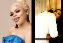 Bobrisky Shares Loved-Up Video Of Him With His Mystery Lover In A Hotel