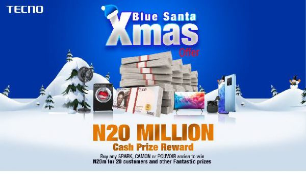 N20M and Special Gift Packages up for Grabs in TECNO Blue Santa Xmas