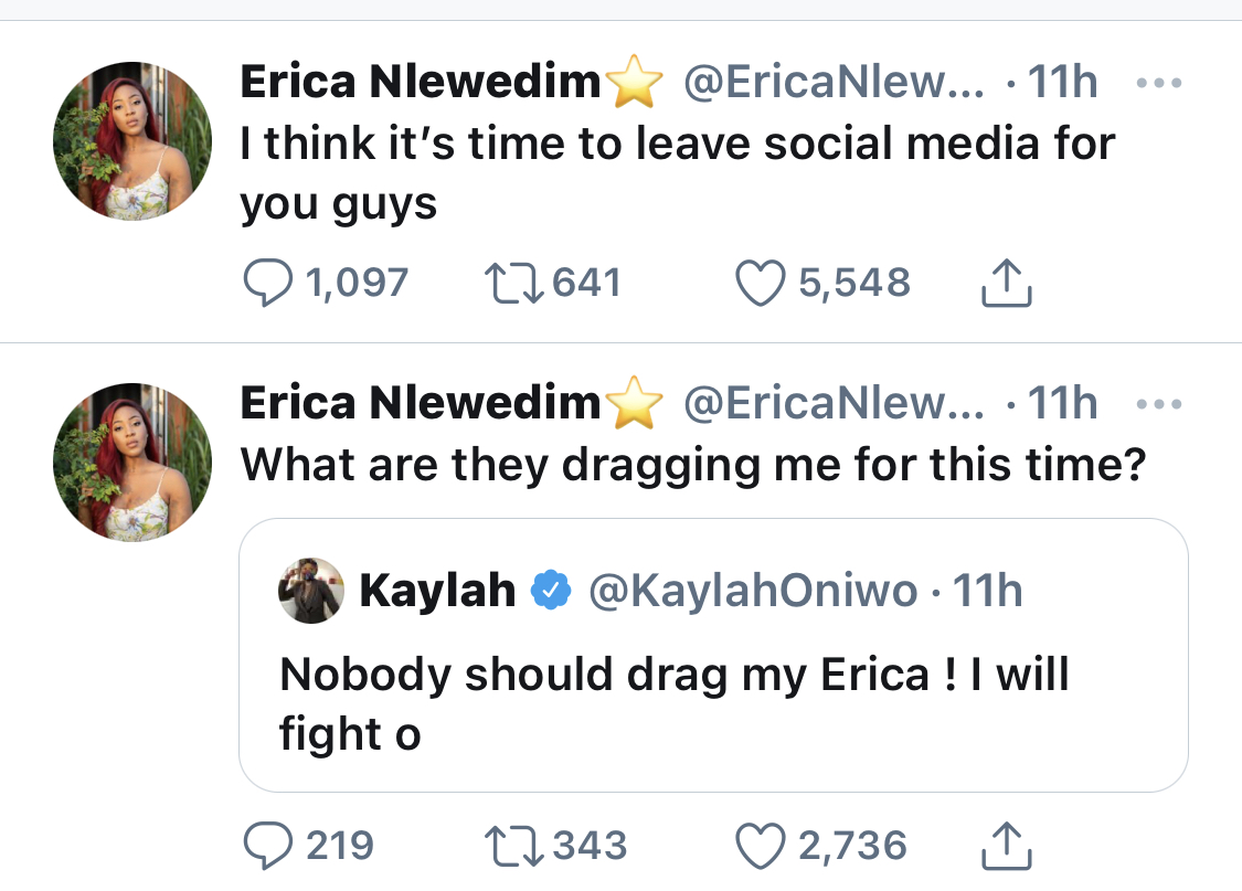 The reality TV starlet's tweet