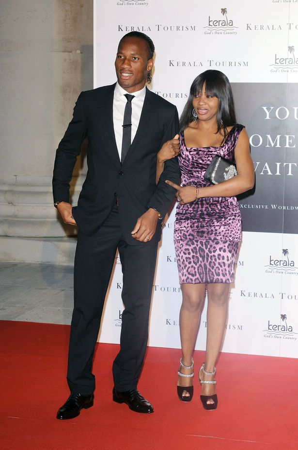 Didier Drogba and his wife