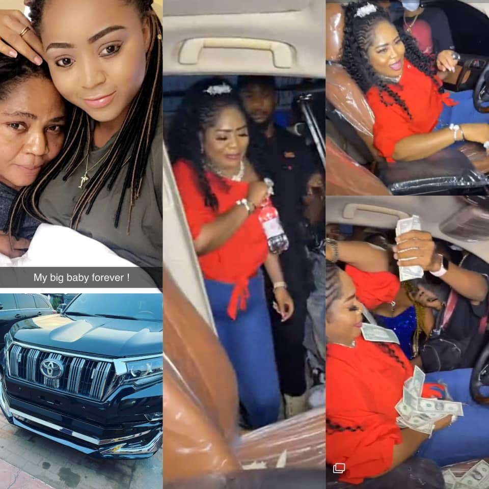 Actress Regina Daniels Surprises Her Mom With New Car For Her Birthday
