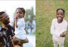 Wizkid's Sons, Zion And Bolu Finally Meet In Ghana