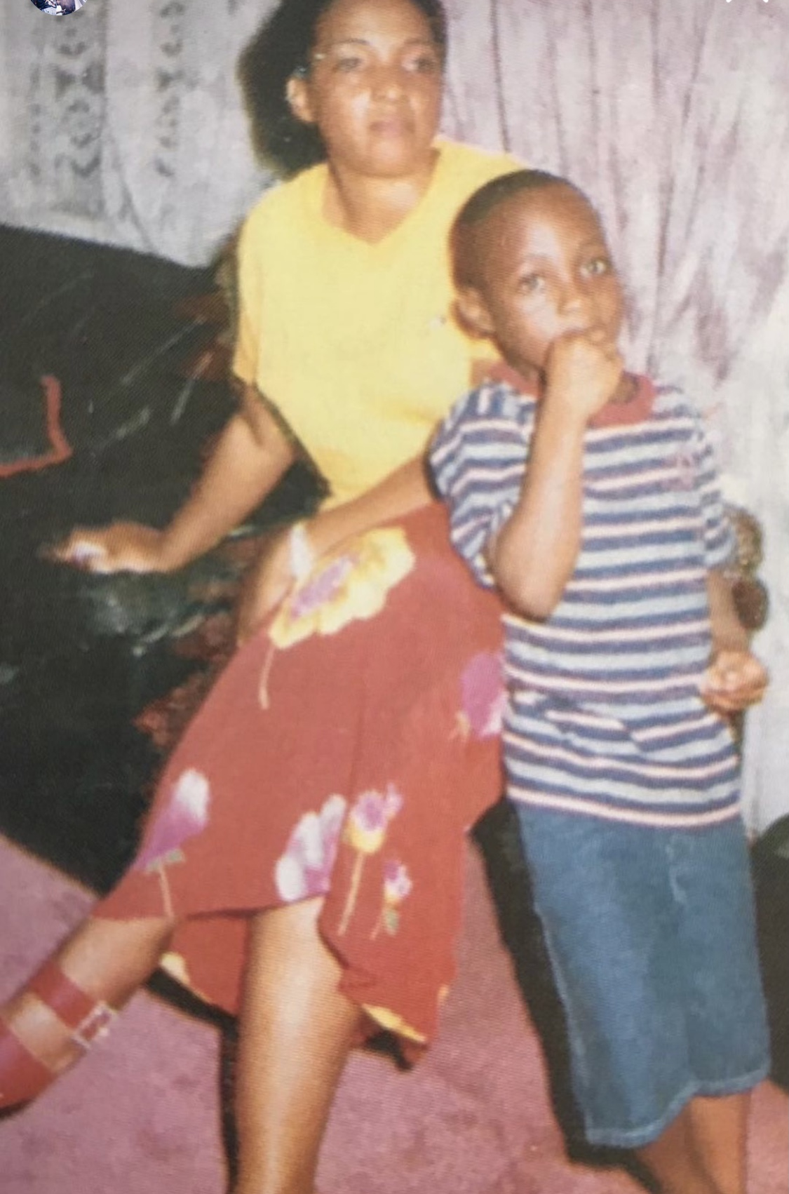 Davido and his mother
