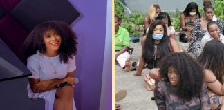 Davido's Female Signee, Liya Spotted Among Those Arrested At Lagos Club