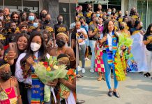BBNaija's Erica Receives Grand Welcome In Ghana