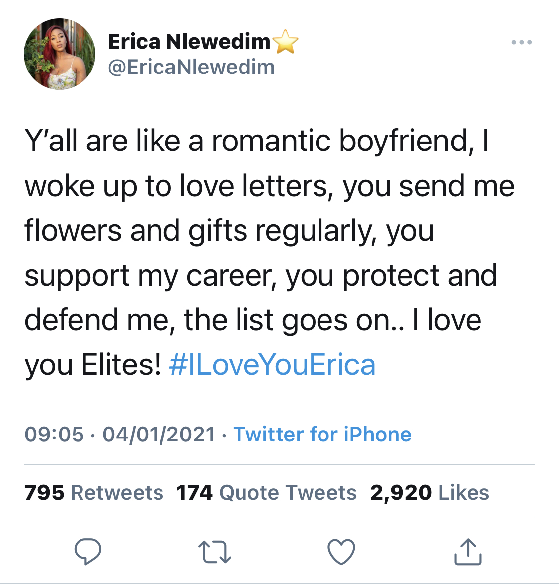 The reality TV star's tweet