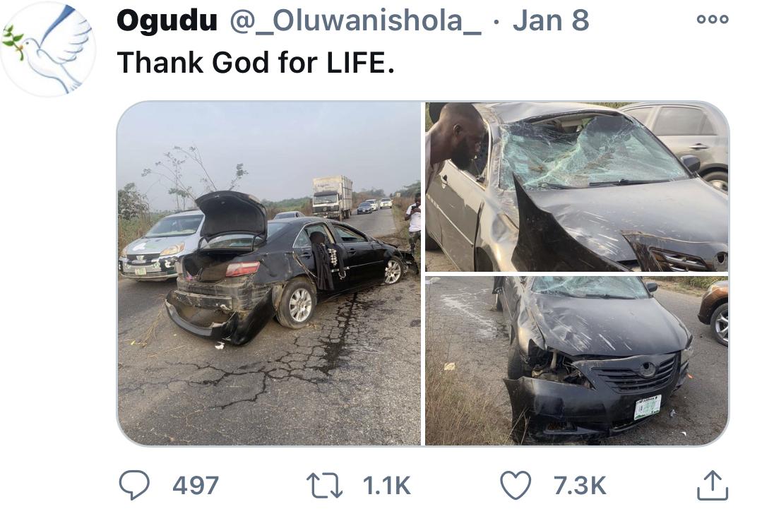 Ogudu's tweet
