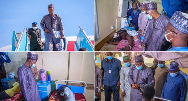 Zulum Visits Attacked Hunters In Hospital