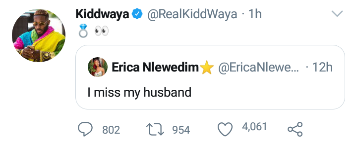 Kiddwaya hints engagement with Erica