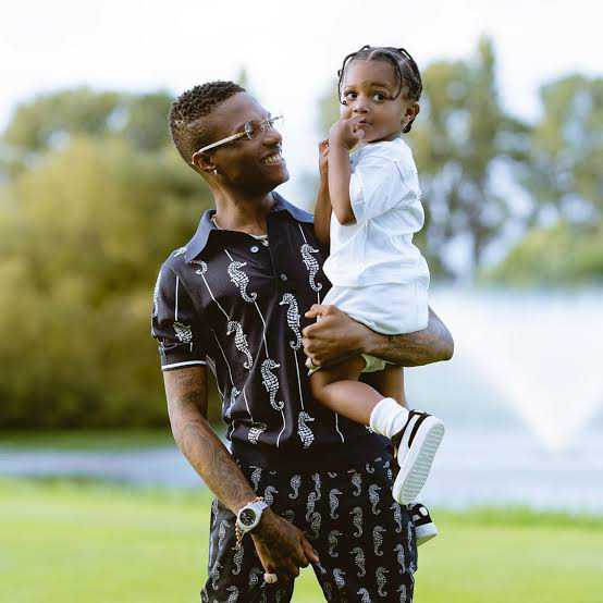 Wizkid cautions son against drinking alcohol