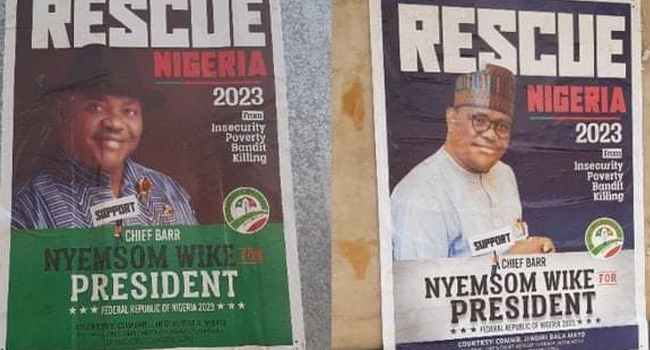 Rivers Govt Denies Responsibility As Wike's Presidential Posters Flood Abuja
