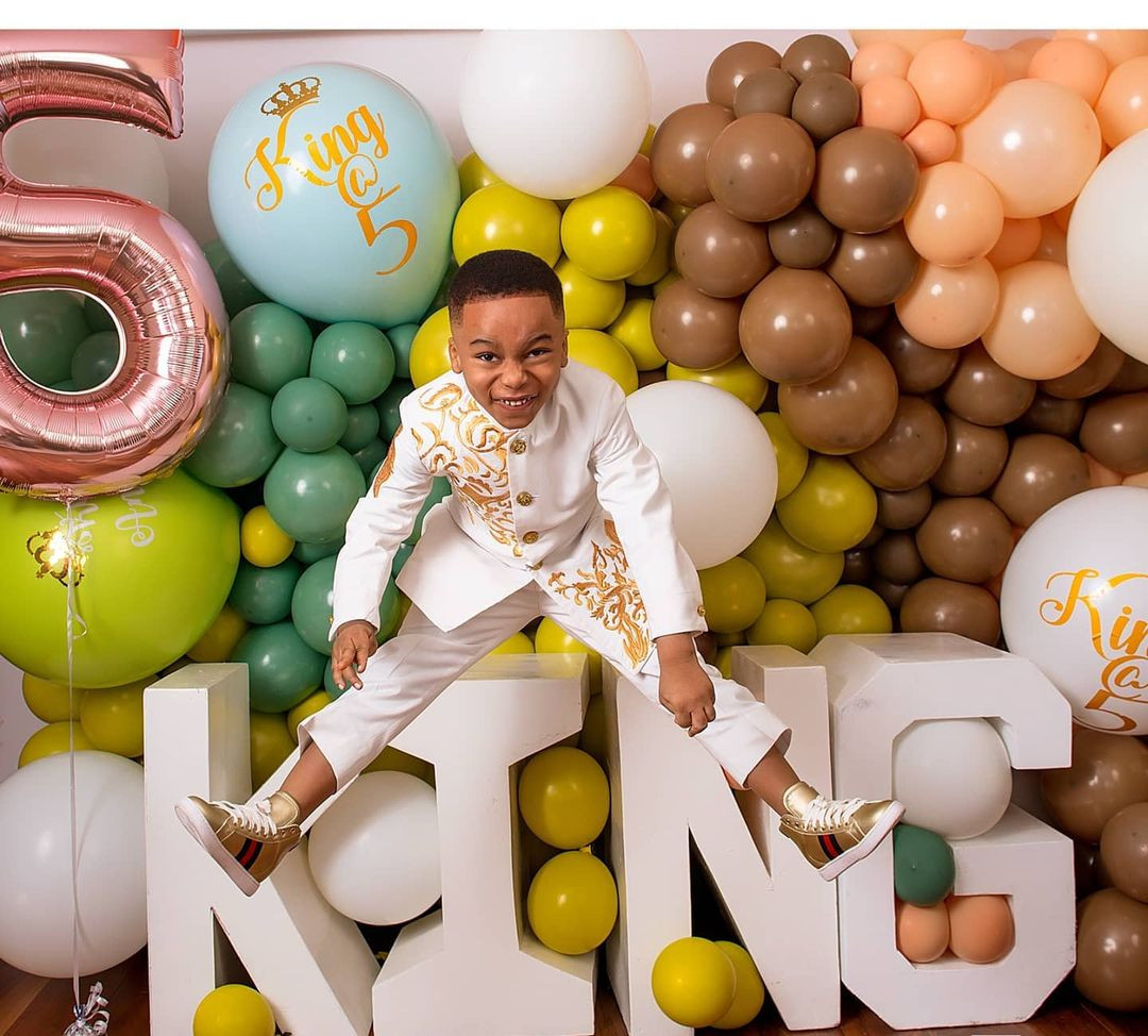 Tonto Dikeh's son, King Andre