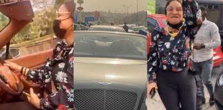 Actress Tonto Dikeh Acquires Brand New Bentley