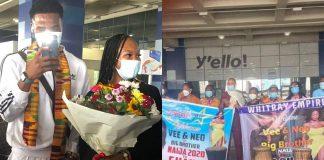 BBNaija's Couple, Neo And Vee Arrive In Ghana