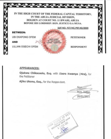 The court document