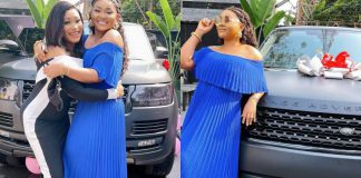 Mercy Aigbe Receives Brand New Range Rover For Belated 43rd Birthday