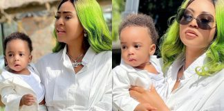Regina Daniels Shares Adorable Photos With Her Son