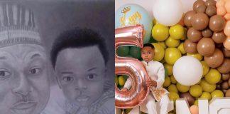 Olakunle Churchill Celebrates His Son's 5th Birthday