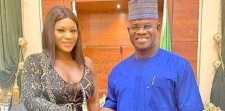 Nigerians React As Actress, Destiny Etiko Meets With Governor Yahaya Bello In Kogi State