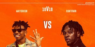 Runtown To Face Mayorkun In 10V10 Battle Of Hits