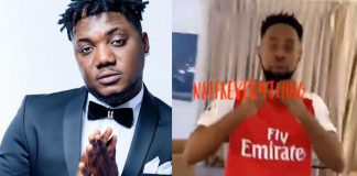 CDQ Olowo, Patoranking Playfully Exchange Blows (Video)