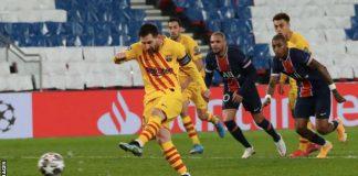 Messi Score Brace To Lift Barcelona Past Valencia