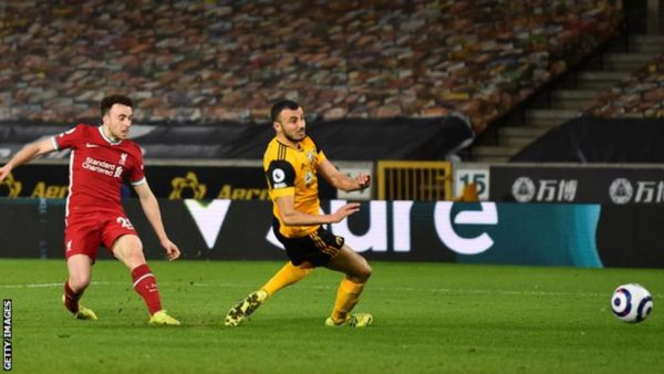 Jota Boost Liverpool UCL Hopes With Victory Over Wolves