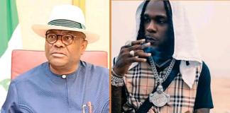 Nigerians React As Wike Showers Gifts On Burna Boy