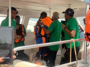 Super Eagles Arrive Benin Republic By Boat
